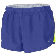 "Nike Dri-Fit 2"" Road Race Short - Women's - Running - Clothing - Night Blue/Volt/Reflective Silver"