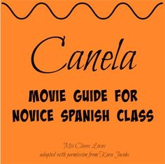 FREE Spanish 1 guide to go with the movie Canela, which can be found on Netflix