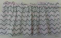 Pink and Grey Zig Zag Chevron Window Valance 16 x 52