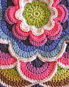 This is a mystery Crochetalong (CAL) pattern designed by Jane Crowfoot. By the end of July 2014, participants will have a beautiful crocheted piece that can be used as a throw or a wall hanging.