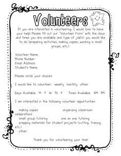 Great volunteer form! Googledoc it?
