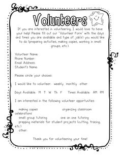 Great volunteer form! Googledoc it?