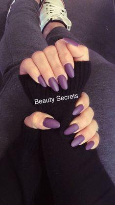 Matte purple acryl nails #beautysecrets #handsonfleek #ownmade