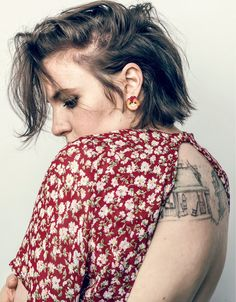 Lena Dunham photographed by Norman Jean Roy, Vogue, March 2018.