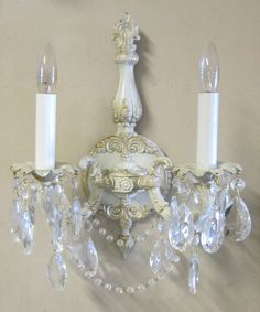 Pics On unique bathroom lighting Shabby Chic Style Double Arm Sconce by ILiteU on Etsy