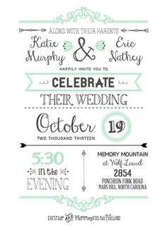 DIY Wedding Invitations with free printable template i really would rather use this (((: i can easily edit them to change them up ((: