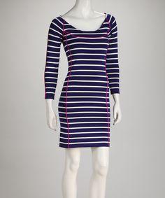 Navy & White Stripe Dress $85.99