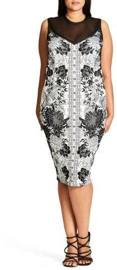 b58c16636bb Plus Size Women s City Chic Baroque Sheath Dress Fashion Group