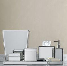 rhinestone bathroom accessories. mirrored bath accessories  Mirrored bathroom House Ideas bella lux rhinestone dispenser