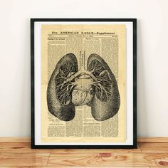 Human Lungs Antique Anatomy Vintage Printable Collage Old Newspaper Lung Wall Art Print Hom Vintage Newspaper, Newspaper Paper, Printable Designs, Printable Crafts, North America Map, West Art, Floral Skull, Dictionary Art, Digital Image