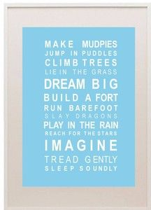 Bus Scrolls - Dreams & Mudpies poster A3 size unframed-mudpies, almond tree, bus roll, boys, poster, motivational, inspirational, gift, boys, bedroom, wall art, bus scroll, holly and eddie,
