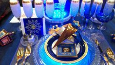 Hannukah tablescape by Couny Kody