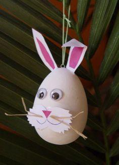 Conejo  en cascara de huevo