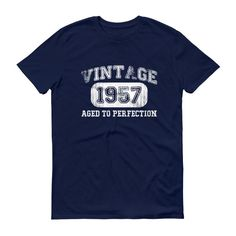 Men's Vintage 1957 Aged to perfection T-shirt - 60th Birthday Ideas For Grandpa