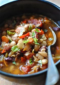 Bean and Barley Soup> This looks AMAZING!!!