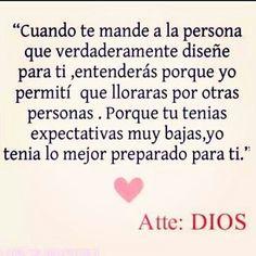 Los tiempos de Dios son perfectos!!, woooow, que hermosa carta, no tengo palabras Gracias!!! porque sé que me amas