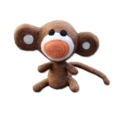 Needle felted Monkey by amanocraftsUK on Etsy