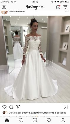 42 Off The Shoulder wedding dresses to see - # bridal dresses .- 42 Off The Shoulder Brautkleider zu sehen – 42 Off The Shoulder wedding dresses to see – # bridal gowns # see - Boho Wedding Dress With Sleeves, Top Wedding Dresses, Wedding Dress Trends, Long Sleeve Wedding, Bridal Dresses, Lace Wedding, Dresses With Sleeves, Wedding Bride, Maxi Dresses