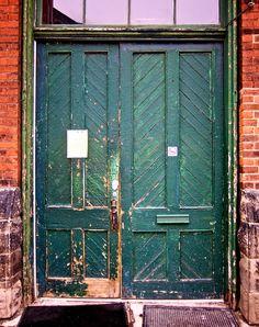 Large green wood #door in #Toronto, #Canada