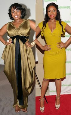 """Jennifer Hudson from Celebrity Weight Loss """"It's like a brand-new me,"""" the American Idol singer told Oprah after dropping a whopping 80 pounds with the help of Weight Watchers. """"Sometimes I don't even recognize myself. Ashley Graham Weight Loss, Acupuncture For Weight Loss, Jennifer Hudson, Black Girl Fashion, Famous Women, Celebs, Celebrities, African Women, Dress To Impress"""