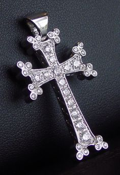Boasting round, brilliant-cut diamonds with G color and clarity, this Armenian cross HACH KAR pendant is available in white gold and measures 1 x A Armenian Fonts, Armenian History, Armenian Culture, Moon Jewelry, Jewelry Box, Jewelery, Armenian Wedding, Thinking Day, Cross Designs