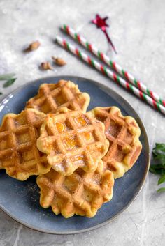 This gaulettes (French-Belgian waffle cookies) recipe features butter, brown sugar, and vanilla dough cooked on a waffle iron. Belgian Waffle Iron, Belgian Waffles, Belgian Waffle Cookie Recipe, Waffle Iron Cookies, Cookie Recipes, Dessert Recipes, Desserts, Biscuits, Waffles