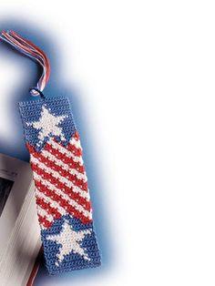 Crochet~ Stars & Stripes Bookmark- Free Pattern