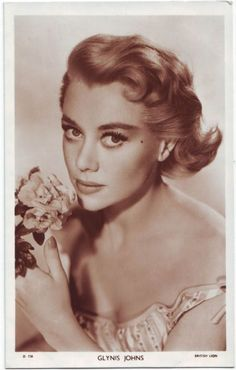 """Glynis Johns, 1950's (1923-still living). Film actress, dancer, pianist and singer best known for light comedy roles. Born in South Africa while her parents were on tour there (her mother was a concert pianist), but Welsh by heritage. Made her first stage appearance in London as a child ballerina in 1935. Her movie debut in England was in 1938. In 1948 she starred as a mermaid in """"Miranda"""".    Her best-known role was as the mother in """"Mary Poppins"""", 1964. Her last film was in 1999. (IMDb)"""