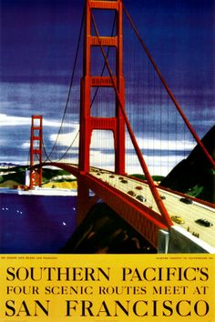 Souther Pacific, San Francisco Poster