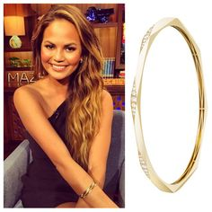 """So stunning! @chrissyteigen on @bravowwhl in a stack of our Josephine bracelets. Gorgeous styling by @bartolistyle ❤️ #chrissyteigen #armparty #stackemup #finejewelry #18kgold #diamonds #bracelets #melissakayejewelry"" Photo taken by @melissakayejewelry on Instagram, pinned via the InstaPin iOS App! http://www.instapinapp.com (04/23/2015)"