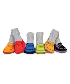 Babies don't need fancy shoes to look like they're wearing them! These whimsical socks are constructed from oh-so-comfy cotton so little toes will always feel perfectly snug. Includes six pairs of socks and gift box72% cotton / 42% nylon / 3% spandexMachine wash; tumble dryImported