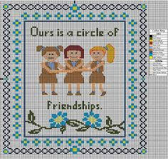 Girl Scout Leader 101: Scout Friendship Circle Cross Stitch Design