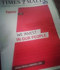 Did you see the Times of Malta on Sunday?  #WeInvestInOurPeople