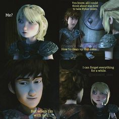 Hiccup and Astrid's romantic relationship