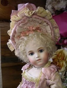"www.bebesbysayuri.com.  Doll artist Sayuri Sinn  has selection of french dolls , all made to order.   Doll shown is a Bru Jne 11 wig style"" Olivia"" in hand dyed  lt.Blonde"