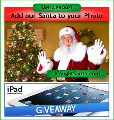 Enter I Caught Santa Giveaway to win an iPad at http://www.icaughtsanta.com/win/#sthash.3MuZTfqH.dpbs
