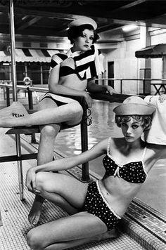 Vintage Bikini Models relaxing