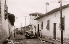 Calle Morrow y CasaMañana. Cuernavaca, Morelos (c. 1937).