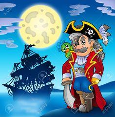 Corsario noble con la silueta del barco.