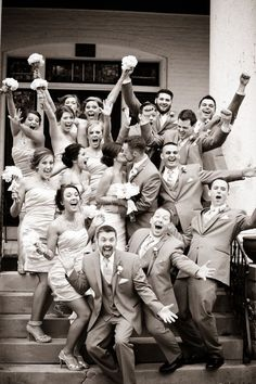 23 Cute And Clever Ideas For Your Wedding Party Photos   The Huffington Post