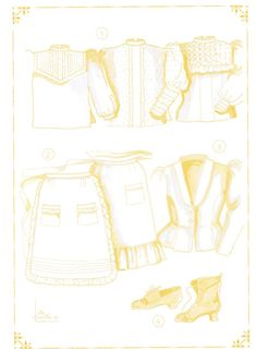 Detalle de las camisas del traje de campesina tinerfeña del siglo XIX