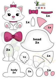 Felt Animal Patterns, Felt Crafts Patterns, Plushie Patterns, Card Patterns, Stuffed Animal Patterns, Sewing Toys, Sewing Crafts, Felt Templates, Applique Templates