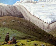 Vista del nevado de Chita y del gran nevero cerca de Güicán, provincia de Tundama
