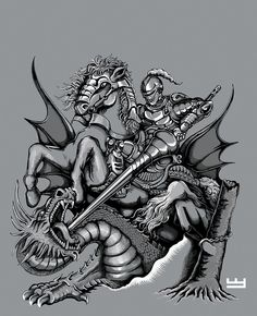 St George v3 by PaperCutIllustration.deviantart.com on @DeviantArt