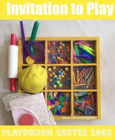 Easter Invitation to Play: Playdough Easter Eggs