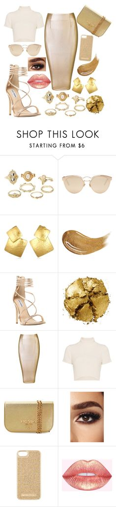 """""""Daddy said I could"""" by llsunflowerll ❤ liked on Polyvore featuring Charlotte Russe, Christian Dior, Oscar de la Renta, Too Faced Cosmetics, Steve Madden, Pat McGrath, Staud, Prada and MICHAEL Michael Kors"""