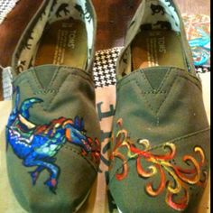 Dragon Pony Toms painted with acrylics