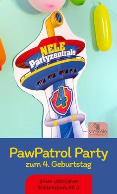 Wir feiern eine PawPatrol Party mit passenden Einladungskarten, Kuchen, Deko, Masken und Mitgebsel-Tüten! Party, 4th Birthday, Invitation Cards, Masks, Invitations, Kuchen, Deco, Kids, Parties