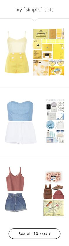 """my ""simple"" sets"" by itzemmiebruh on Polyvore featuring Topshop, Boutique Moschino, Comodynes, Fujifilm, CASSETTE, Royce Leather, Nails Inc., Diptyque, Julien David and Skin"
