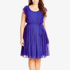 For the Zara Azure Blue Pleated Dress